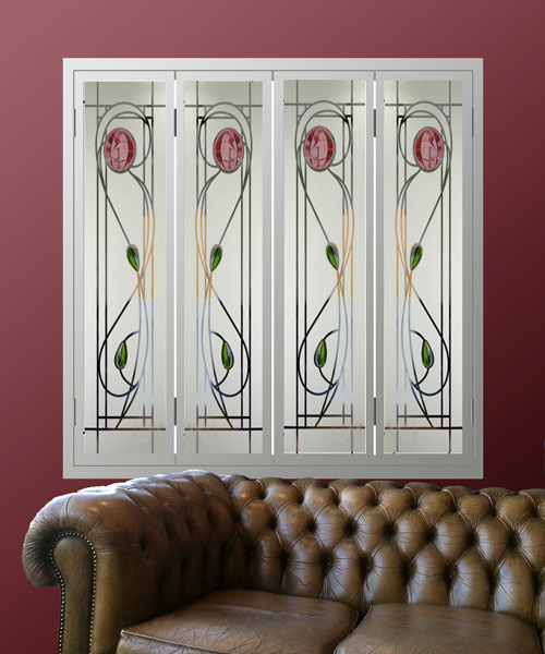 Glass-window-shutters-in-Renee-Mcintosh-style-red-fused-glass