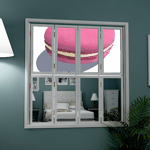 cafe-style-window-shutter-with-mirror-and-macaroon