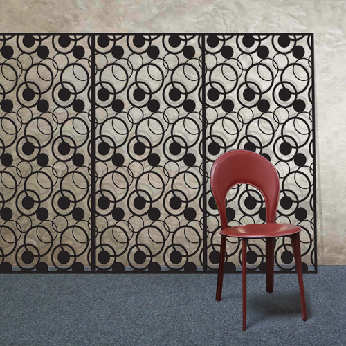 Decorative laser cut metal screens with perforated fretwork
