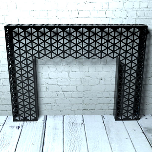 Black Triangles console table Radiator Cover