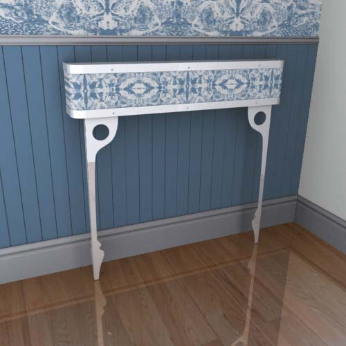 Iced Mirror Console 1 Radiator Cover