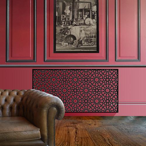 Persian geometric black radiator cover Radiator Cover