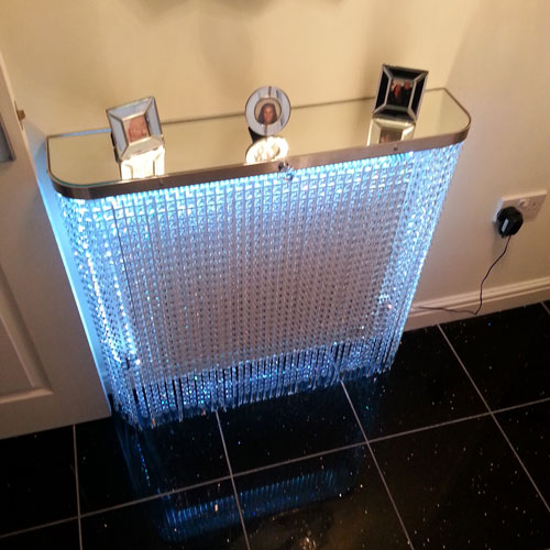 Crystal Clear with mirror top Radiator Cover