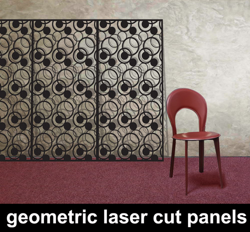 geometric-laser-cur-panels for modern home and commercial interiors