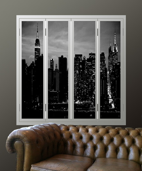 manhattan-window-shutters-with-night-skyline pictures